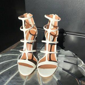 "Steve Madden ""Crystal"" White Heeled Sandals"